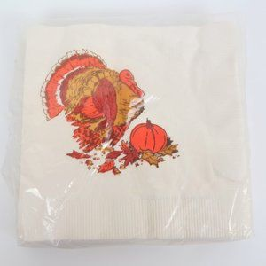 Vintage Thanksgiving Napkins 1 Package of 20